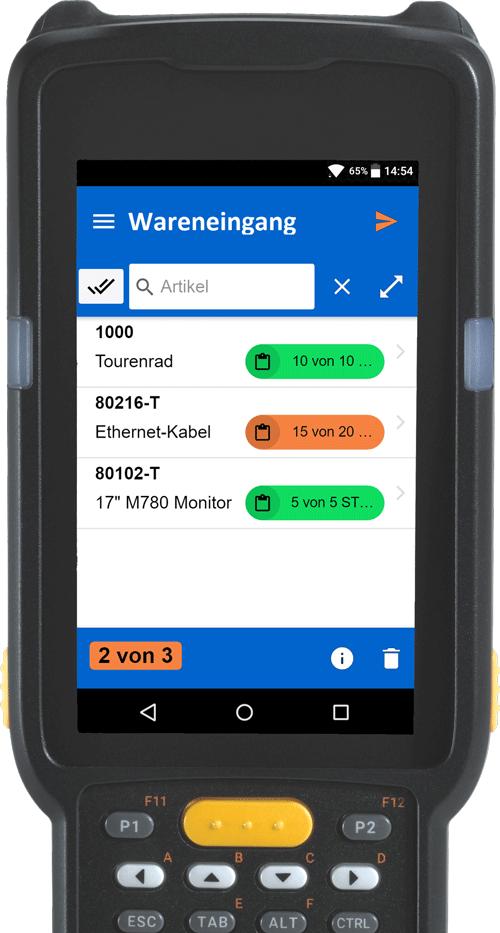 SAPConnect für SAP - Etiscan Barcode-Komplettlösung